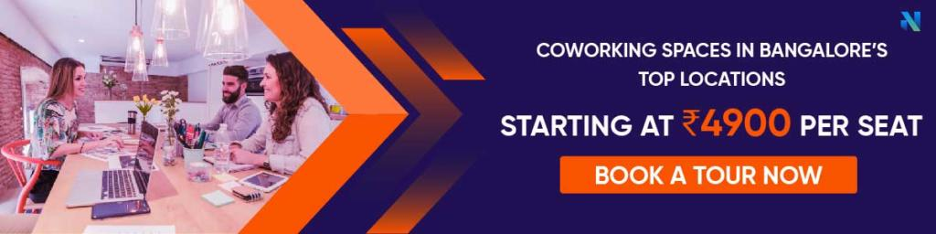 Book a tour - coworking spaces in Bangalore